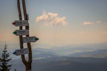 widok na góry z trasy spacerowej
